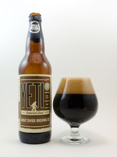 "Great Divide ""Yeti""  95 A     This imperial stout is the base brew belonging to a family of beers, each of which include an additional ..."