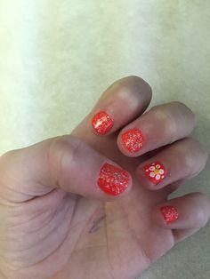 Cute nails, I did them myself, follow and message me to find out how