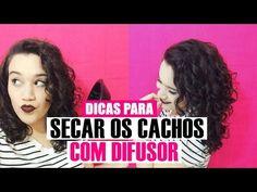 DICAS PARA SECAR OS CACHOS COM DIFUSOR - cabelo cacheado/ondulado - YouTube