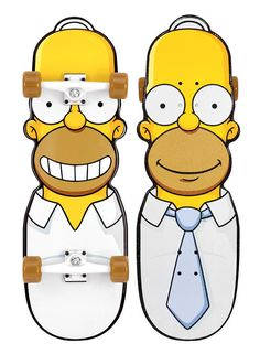 awesome collection of santa cruz The Simpsons skateboards