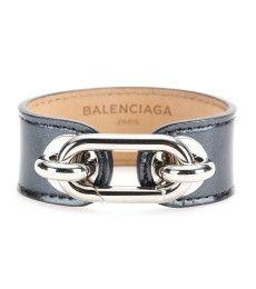 Balenciaga - Maillon patent leather bracelet
