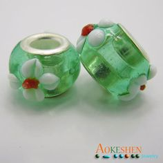 $4.99    Lampwork Millefiori Beads European Style Glass Bead by EOZYBEADS https://www.etsy.com/listing/210096292/lampwork-millefiori-beads-european-style?ref=shop_home_active_22
