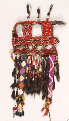 camel headdress, lakai uzbek, early 1900's