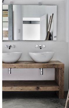 Polished Concrete Powder Rooms Modern Rustic Bathroom Ideas Bathrooms Decor