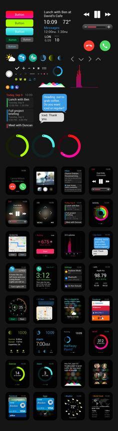 Скачать бесплатно: PSD графического пользовательского интерфейса часов Apple Watch