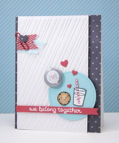I just adore this card by Yainea. It is so sweet and has such a wonderful layout!