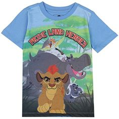 The Lion Guard Toddler Little Boys Pride Land Heroes TShirt 2T Blue ** Check this awesome product by going to the link at the image.Note:It is affiliate link to Amazon.