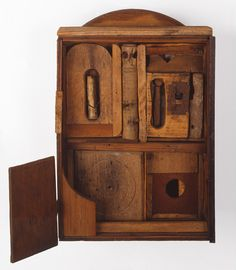 """Hannelore Baron exhibited her work in 1969, the year of her one-person exhibition at Ulster County Community College, she began to make the box constructions that would become her signature, """"Untitled"""", 1970, wood, wire, tin."""