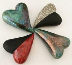 4-herzen-aus-keramik