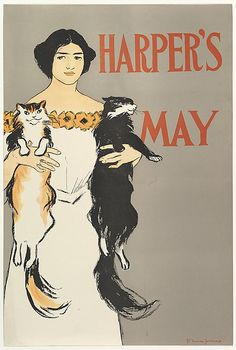 Edward Penfield (American, 1866–1925). HARPER'S / MAY, 1896. The Metropolitan Museum of Art, New York. Leonard A. Lauder Collection of American Posters, Gift of Leonard A. Lauder, 1984 (1984.1202.88) #cats