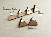 Image of Mountains Alpine Triangles Wooden Studs