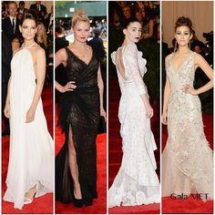 Jennifer Morrison, Emmy Rossum, Katie Holmes y Rooney Mara en la gala MET 2013