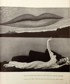 Man Ray painted Lee Miller's lips every day for two years after their break up.