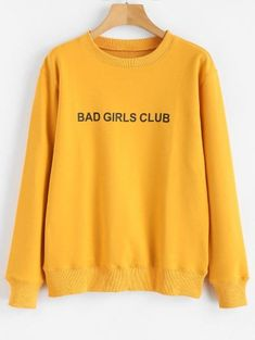 BAD GIRLS CLUB Sweatshirt Graphique Bad Girls Club, Sweat Shirt, Jean Skinny Noir, Kids Fashion, Fashion Outfits, Fashion Design, Bodysuit Fashion, Sweatshirts Online, Jeans Skinny