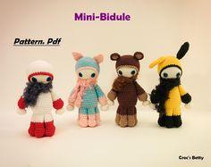 Pattern - Mini Bidule, by Croc's Betty [FR-EN]