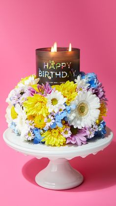 Happy Birthday Candle Bath Candles 3 Wick Scented