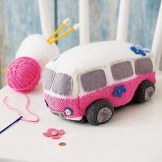 Surf Van Starter Knitting Kit by The Little Knit Kit Company Knitting Kits, Knitting For Kids, Knitting Projects, Crochet Projects, Knitting Patterns, Crochet Patterns, Knitting Tutorials, Knitting Designs, Knitting Ideas