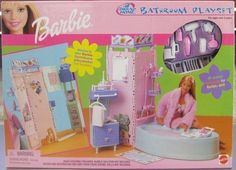 2000 BARBIE - ALL AROUND HOME BATHROOM PLAYSET ** NRFB **DATED 2000 #Mattel