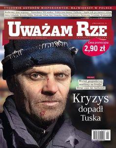 Bezdomny Tusk ofiarą kryzysu. Zrobili z niego kloszarda