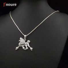 2016 NEW Poodle movement jewelry silver plated  pendant and necklace for pet lovers dog animal charms can drop shipping  A075
