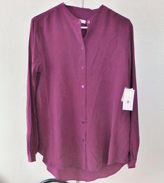 NWT EQUIPMENT Henri Silk Shirt Blouses, Red, Medium, Retail $218 | eBay