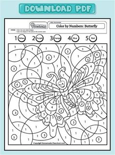 My free preschool math worksheets will help teach counting, numbers, and problem solving in exciting ways! Each is fun to color and full of activity ideas. Colouring Pages, Adult Coloring Pages, Coloring Books, Alphabet Coloring, Coloring Sheets, Adult Color By Number, Color By Numbers, Preschool Math, Kindergarten Worksheets