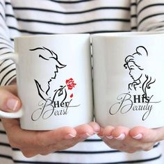 Trendy Ideas for funny couple gifts coffee cups Couples Coffee Mugs, Disney Coffee Mugs, Couple Mugs, Disney Mugs, Coffee Mug Sets, Funny Coffee Mugs, Coffee Art, Funny Mugs, Mugs Set