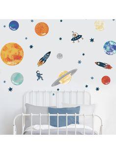 Boys Space Bedroom, Outer Space Bedroom, Kids Room, Space Themed Nursery, Nursery Room, Baby Boy Rooms, Baby Room, Bedroom Themes, Kid Spaces