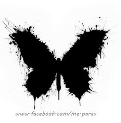 Abstract Black Butterfly tattoo