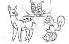 Woodland fun, sketchbook - Angie Jones Illustration