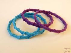 Pulseras de crochet   Espacio Crochet