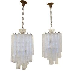 Pair of Barovier Toso Chandelier, circa 1960s | From a unique collection of antique and modern chandeliers and pendants at https://www.1stdibs.com/furniture/lighting/chandeliers-pendant-lights/