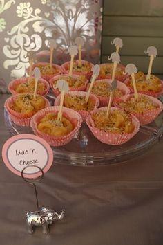 Food:  mac n cheese and elehpant forks