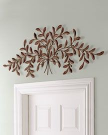 Over door decorations on pinterest door swag olive for Above door decoration