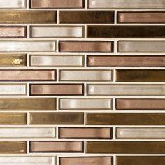 Liquid Bronze Glass Mosaic - 12 x 12 - 100417534 Decorative Tile Backsplash, Copper Backsplash, Glass Tile Backsplash, Glass Mosaic Tiles, Stone Mosaic, Kitchen Backsplash, Backsplash Ideas, Tile Ideas, Countertop