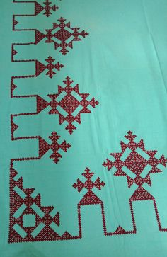 Embroidery On Kurtis, Kurti Embroidery Design, Hand Work Embroidery, Hand Embroidery Designs, Kurta Designs Women, Blouse Designs, Kutch Work Designs, Sewing Stitches, Needle And Thread