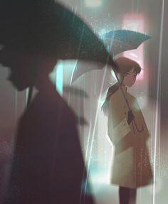 Precious Moments of Solitude Captured by the Illustrator Jenny Yu - Cette Illustratrice Rappelle Combien les Moments de Solitude sont Appréciables Art Anime Fille, Anime Art Girl, Manga Girl, Anime Girls, Aesthetic Art, Aesthetic Anime, Cute Couple Art, Eve Online, Sad Art