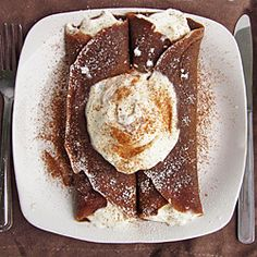crepe with eggnog