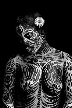 body painting and photography  by Chelsea Rose    #bodyart #body #art