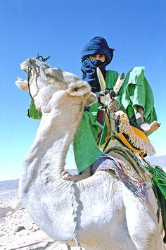 Tuareg mounting moody camel. Photographer Alberto Arzoz