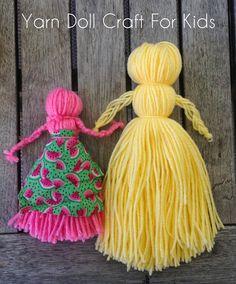 Muffin Tin Mom: How To Make A Yarn Doll - Easy Yarn Doll Tutorial