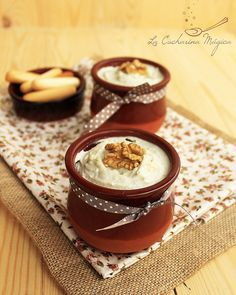 La Cucharina Mágica: Paté de tres quesos y nueces. Receta asturiana. Mousse, Food N, Food And Drink, Cooking Time, Cooking Recipes, Healthy Dips, Salty Snacks, Serious Eats, Latin Food
