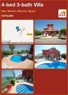 4-bed 3-bath Villa in Mar Menor, Murcia, Spain ►€378,000 #PropertyForSaleInSpain