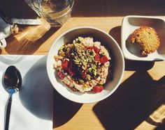 Roasted  Porridge in waiting for . Happy Sunday from #sanfrancisco !  by lentinealexis