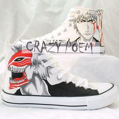 Custom Sneakers Customize Anime Hand Painted Shoes,High-top Painted Canvas Shoes