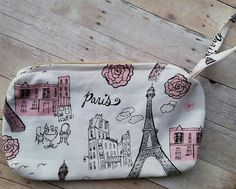 Check out this item in my Etsy shop https://www.etsy.com/listing/242890059/paris-cosmetic-bag-eiffel-tower-pouch