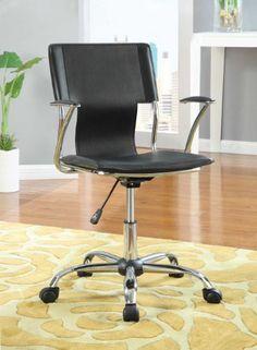 Coaster 800207 Modern Style Office Chair, Black