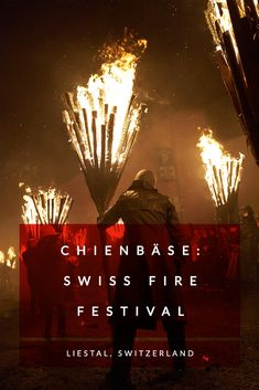 Chienbäse is one of Switzerland's most unique festivals, an annual celebration of fire and warmth that takes place in Liestal. European Festivals, Running Of The Bulls, Fire Festival, Bastille Day, Switzerland, Seasons, Spaces, Random, Winter