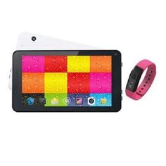 "Supersonic 7"" Wht Tablet and Pink Fitband #Supersonic"