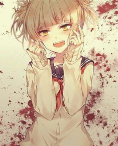 Himiko Toga My Hero Academia, Hero Academia Characters, Animes Yandere, Yandere Anime, Best Anime Drawings, Psycho Girl, Himiko Toga, Villain Deku, Cool Poses